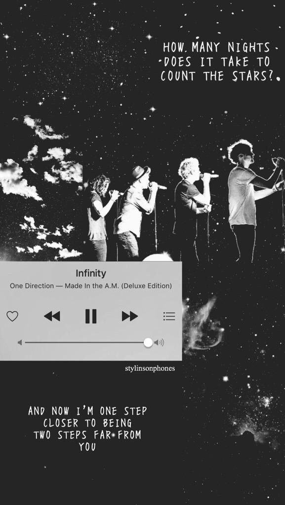 One Direction Infinity Lockscreen Ctto Stylinsonphones On Twitter One Direction Wallpaper One Direction Quotes One Direction Songs
