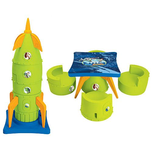 Disney Pixar\'s Toy Story Rocket Ship 2-in-1 Transforming Table and 4 ...