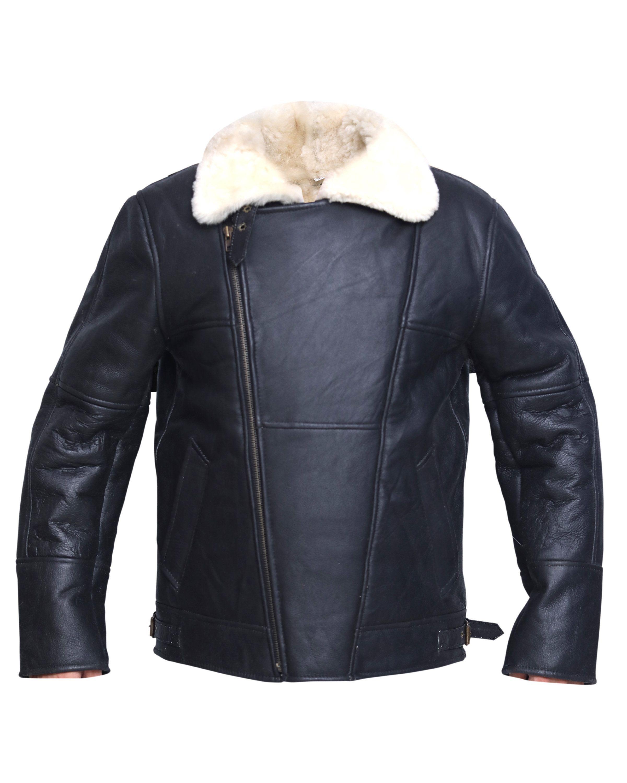 Mens Luxury Double Aviator Real Shearling Sheepskin Leather Flying Jacket Flying Jacket Mens Luxury Leather Jacket [ 3000 x 2400 Pixel ]