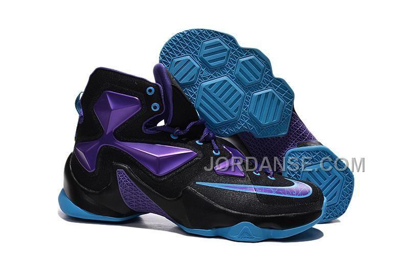 2016 Nike Mens Basketball Sneakers Lebron 13 Blue Black