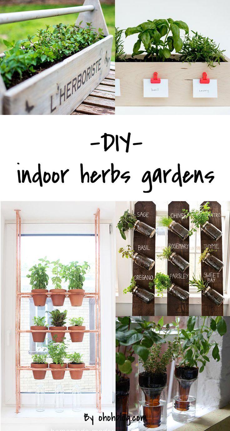 Diy To Try Indoor Herbs Garden Inside House Ideas Huerto