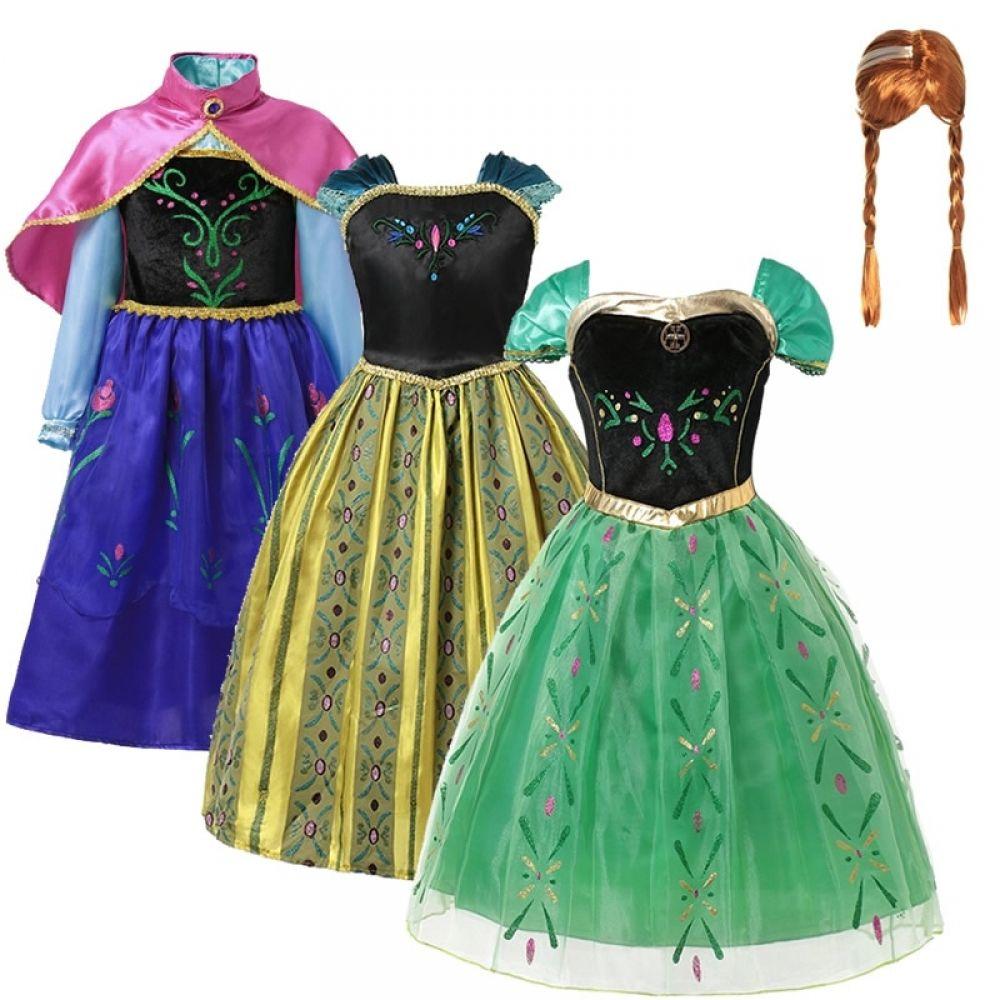 Princess Dress Toddler Dress Kids Girls Costume Dress Green Child Minnie Inspired Dress