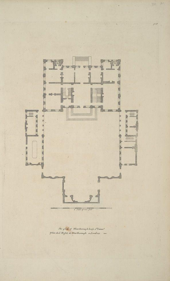 Marlborough House floorplan | Castles and palaces | Pinterest ...