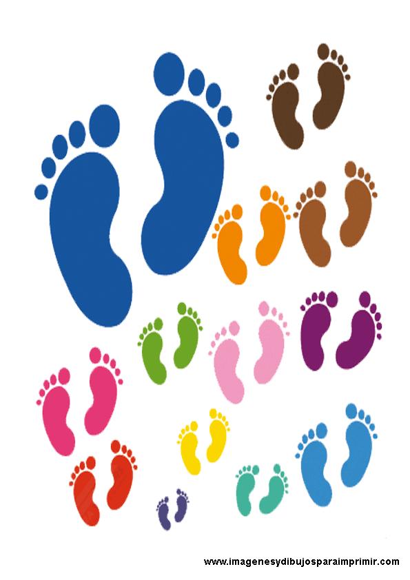 Dibujos De Pies De Bebes De Colores Kiniya Liniy 9yila Alii
