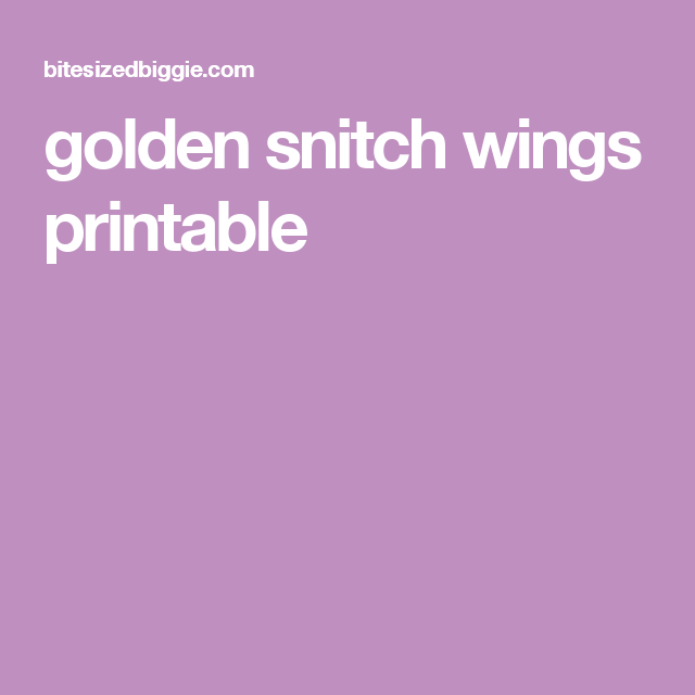 picture relating to Golden Snitch Wings Printable named golden snitch wings printable Battle for your instantly toward Par