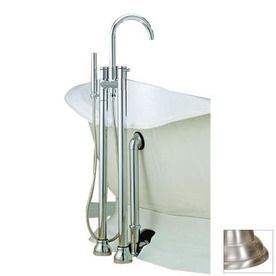 Cheviot Chrome Bathtub And Shower Faucet With Single Function Showerhead