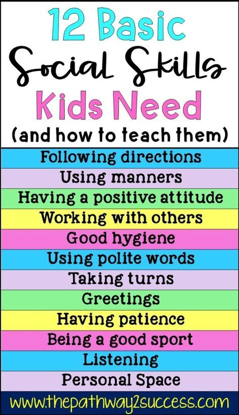 12 Basic Social Skills Kids Need Basic social skil