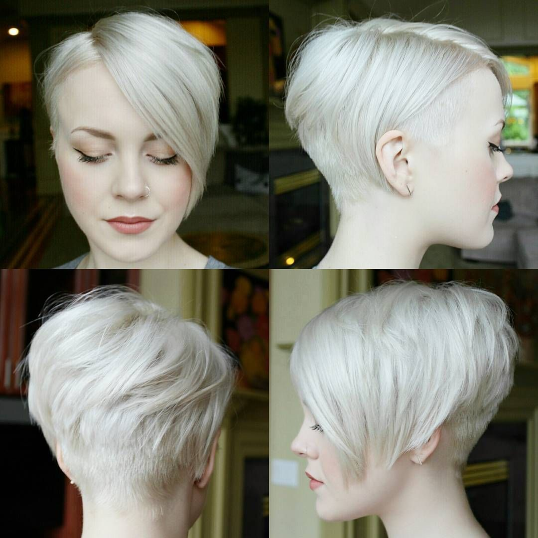 "360 of my #pixie! (before) long layered top and a 2"" undercut on"