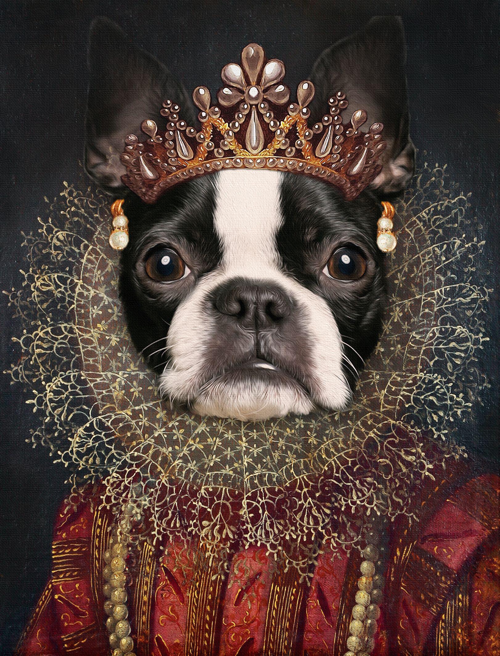 Digital Art Custom dog portrait from photos Art à