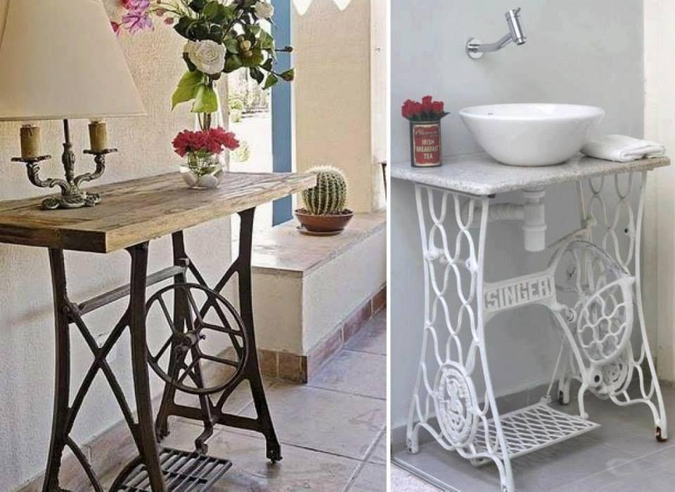 mesa patas maquina de coser | RECICLAR | Pinterest