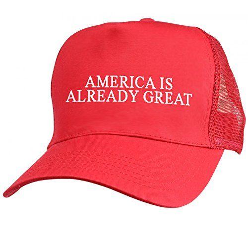 a97d73d2 America Is Already Great Red Mesh Trucker Hat | Dump Trump | Trump ...