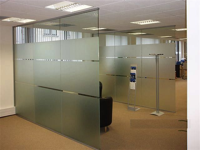 Glass Office Partitions in Fairview | NJ Glass Service | Furniture ...