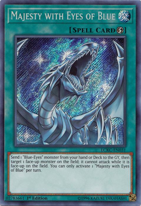 Majesty With Eyes Of Blue Yu Gi Oh Wiki Fandom In 2020 Dark Magician Cards Yugioh Cards Yugioh Dragons