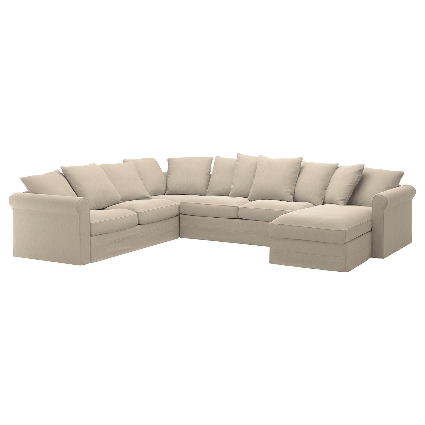 - GRÖNLID Corner Sleeper Sofa, 5-seat - With Chaise, Sporda Natural