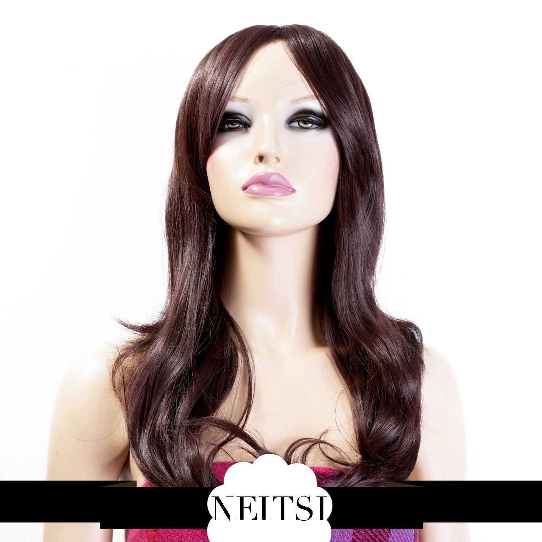 Neitsi 100 Japanese Kanekalon Fiber Hair Synthetic Wigs Long Wavy