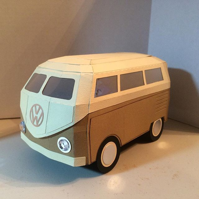 Made this for my brother as a present I used a svgcuts file vwbus svg vw cricut cricutexplore cricutdesign svgcuts paper is part of Cardboard car -