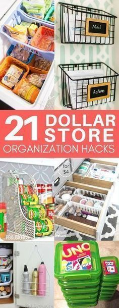 These dollar store organization ideas are exactly what I was looking for! Cheap & easy organization tips for your bathroom, kitchen, and more! I love the ideas for organizing under your bathroom sink and in your pantry. #dollarstores