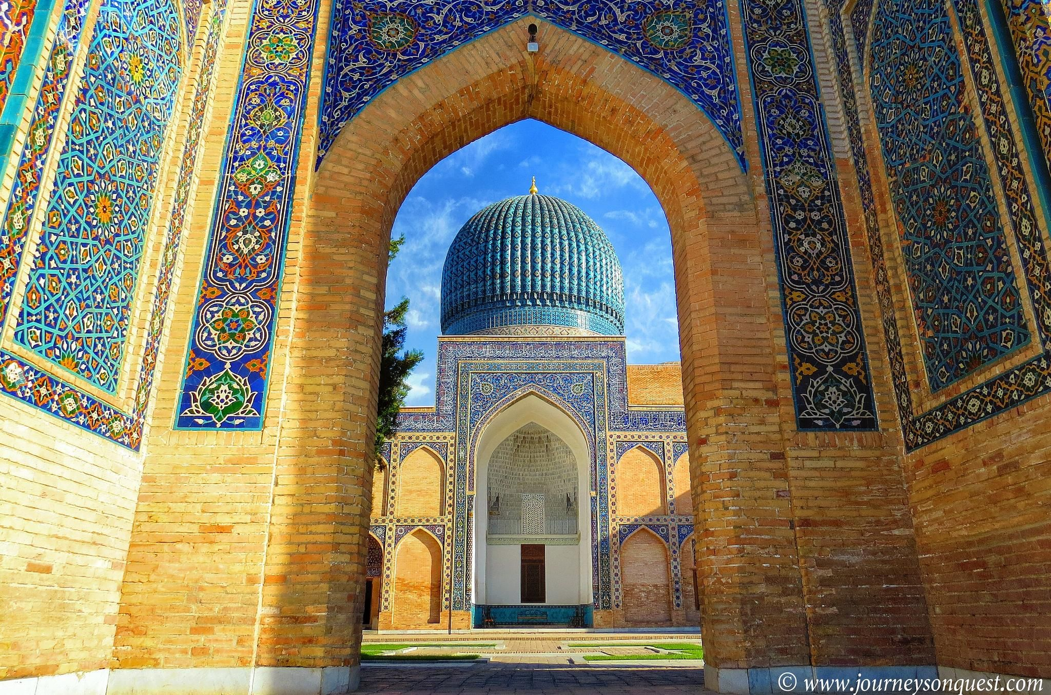 Tamerlane's Tomb is just one example of Samarkand's stunning architecture (Photo from Journeys On Quest)