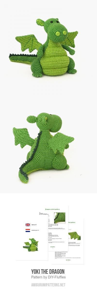 Yoki The Dragon Amigurumi Pattern | Crochet | Pinterest | Tejido ...