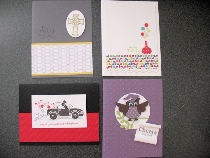 Sample from my monthly Card Class Details about class can be found - Sample Cards