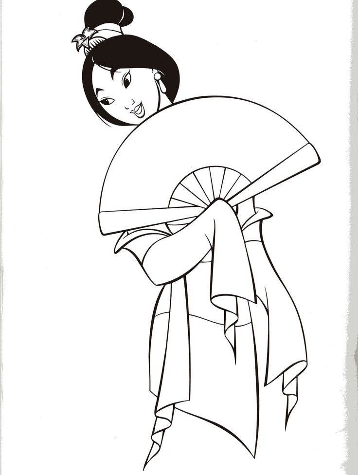 mulan coloring pages Uploaded to Pinterest Coloring Pages