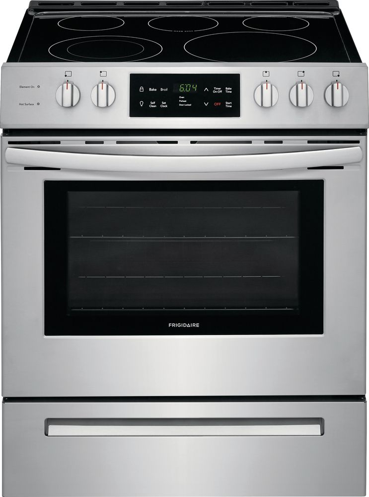 30 Inch 5 0 Cu Ft Front Control Freestanding Electric Range With Self Cleaning Oven In Stainless Ste Range Cooker Freestanding Electric Ranges Electric Range
