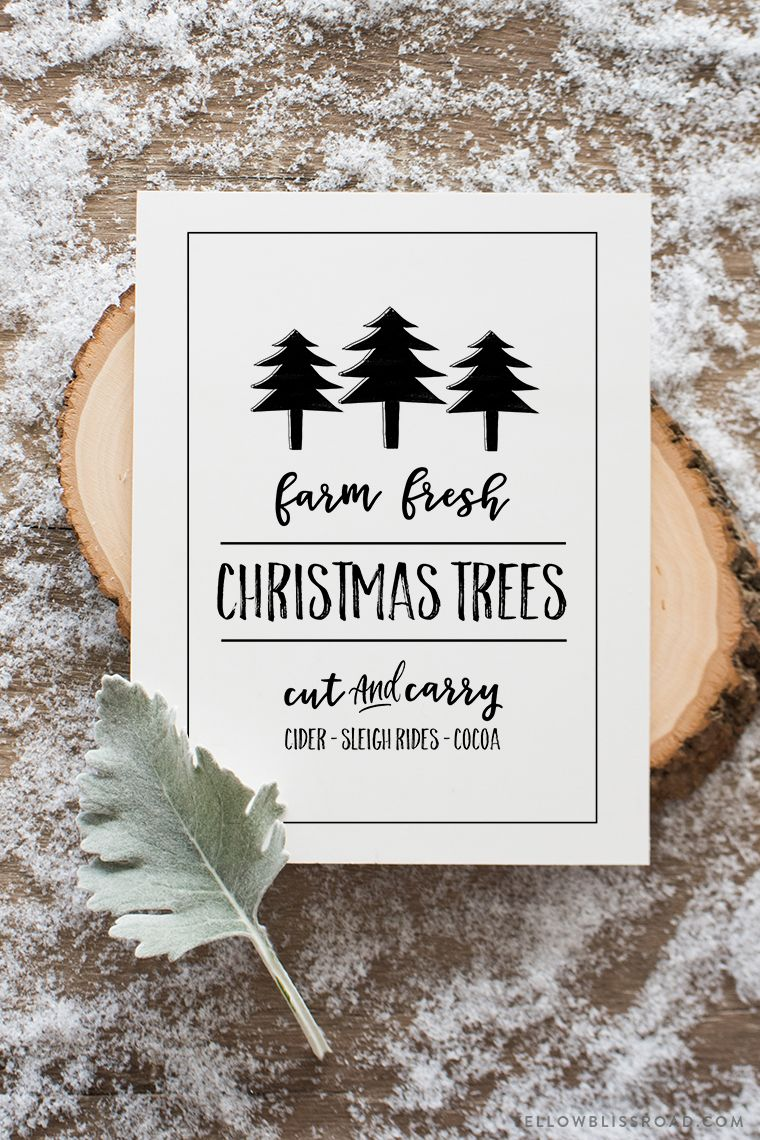 Fresh Christmas Trees Free Printable Sign Free christmas