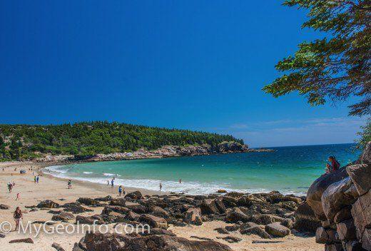 A Beautiful Maine Beach In Acadia National Park Near Bar Harbor