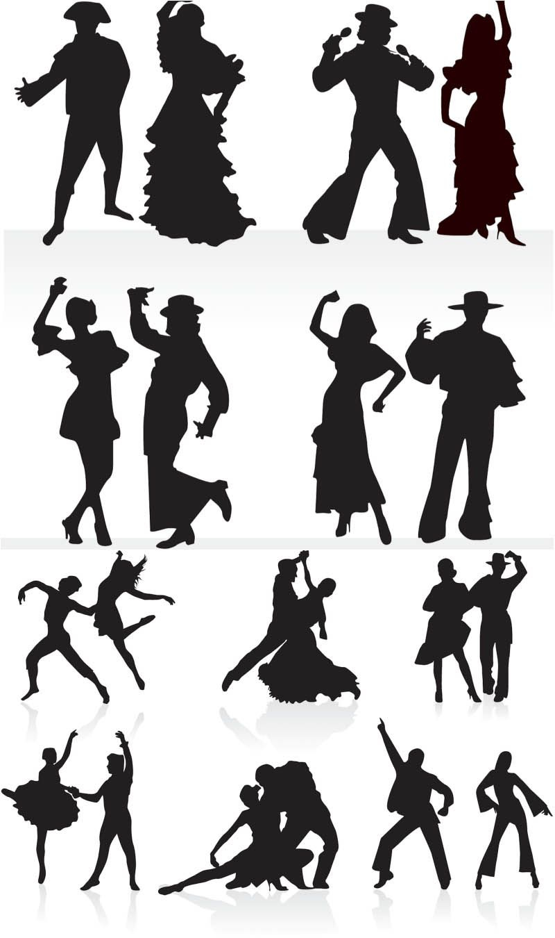 Silhouettes Dance Couples Free For Download And Ready For Print Over 10 000 Graphic Resources On Vectorpicfree Ballroom Dancing Latin Dance Dance