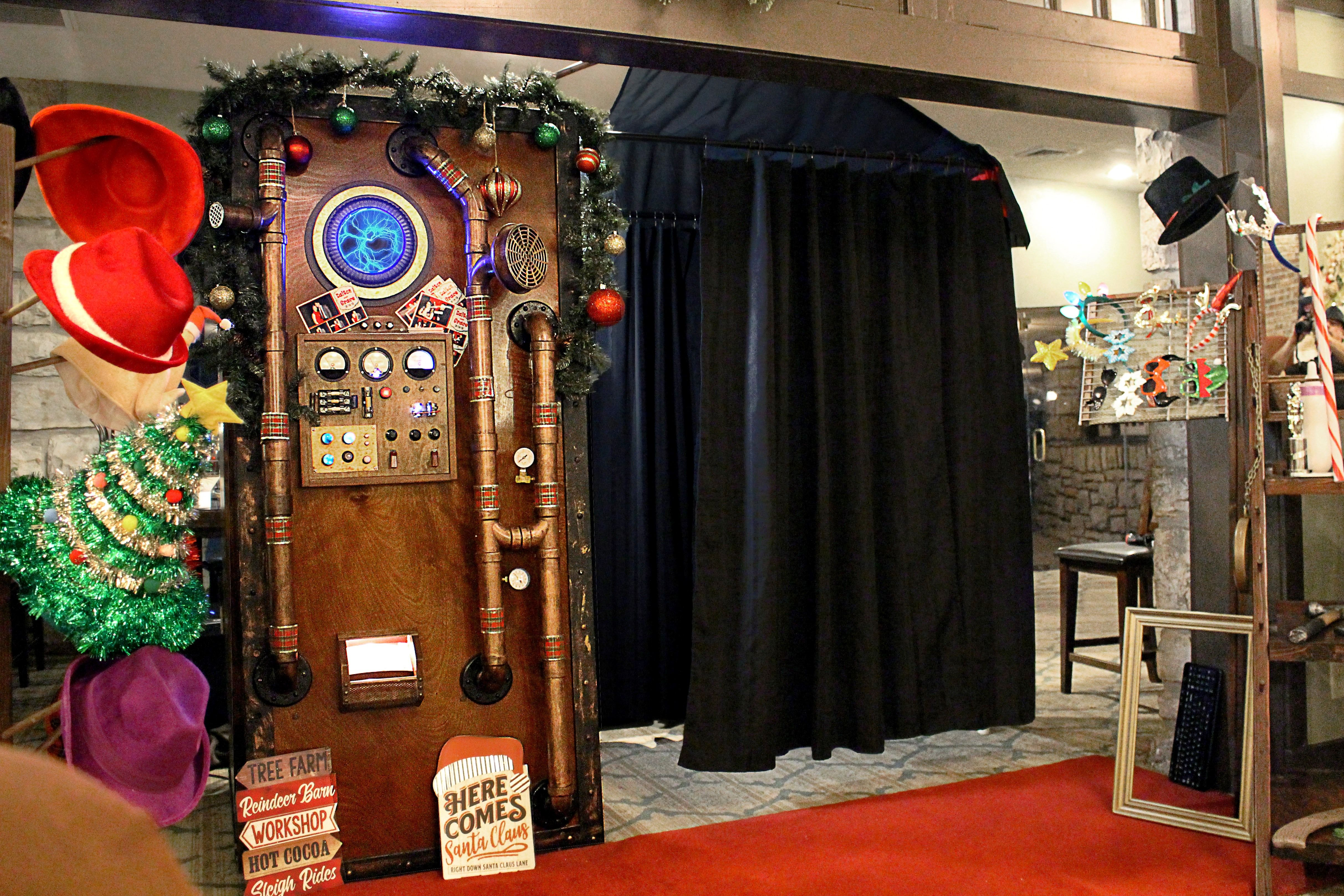 Vintage Rustic Steampunk Photo Booth Rentals In Kansas