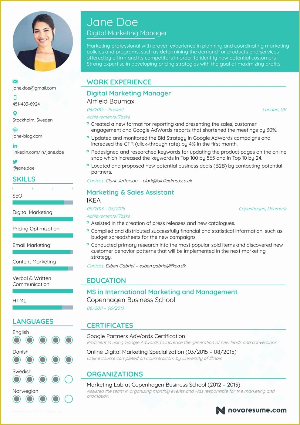 Free Resume Templates 2018 Of How to Write A Resume In
