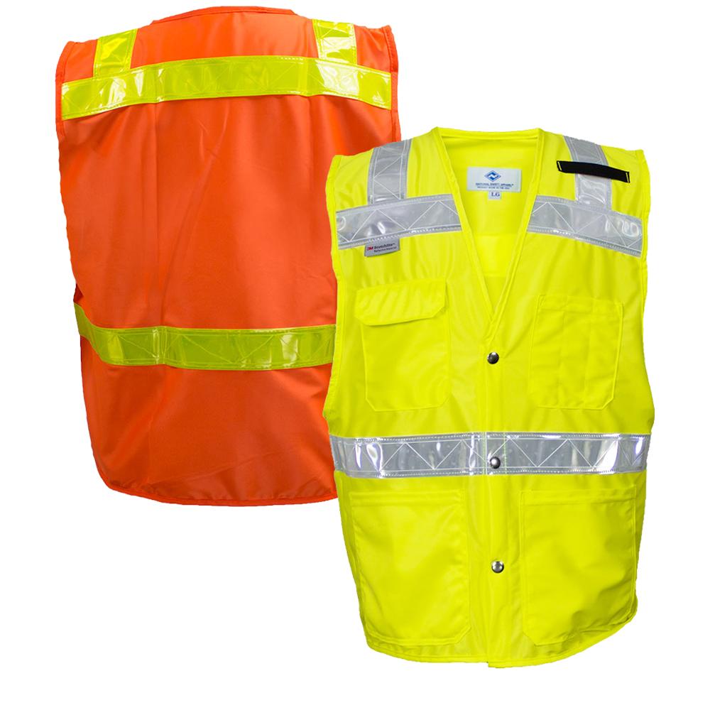 National Safety Apparel 8043 8083 Ansi Class 2 Hi Vis Road Safety Vest Safety Vest National Safety Vest