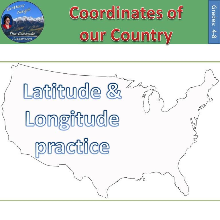 coordinates of the united states latitude longitude practice lessons and activities. Black Bedroom Furniture Sets. Home Design Ideas