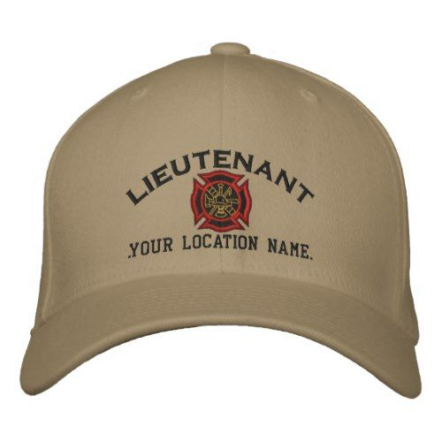 1a6721bc75c Personalized Fire Lieutenant Custom Cap Embroidery