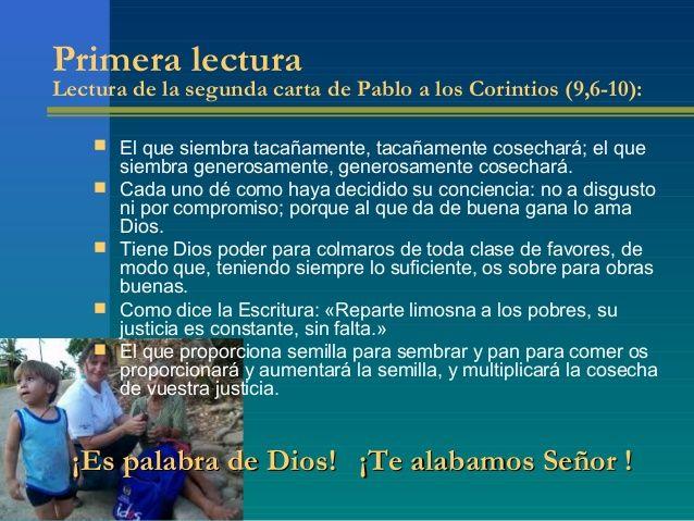 LECTURAS DEL DIA: Lecturas y Liturgia del 17 de Junio de 2015 ...