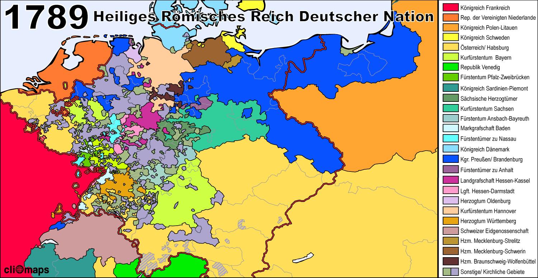 Heiliges Römisches Reich bei Beginn der Französischen ...