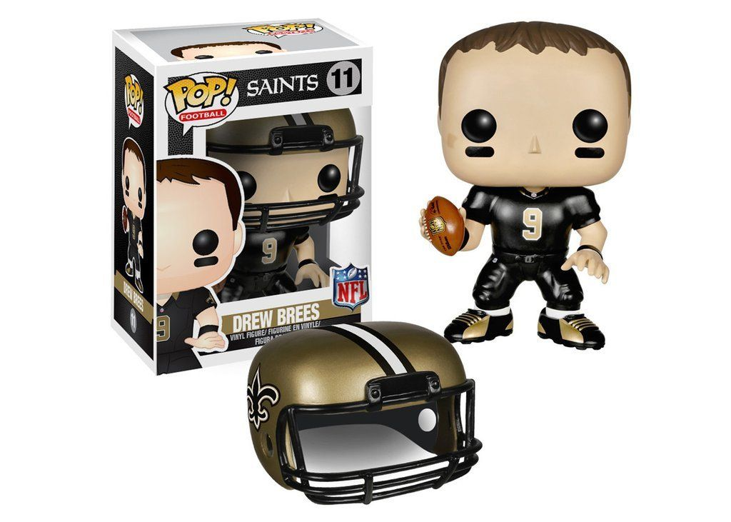 Funko Pop Nfl Wave 1 Drew Brees Vinyl Figure 11 Pop Vinyl Figures Vinyl Figures Nfl Saints