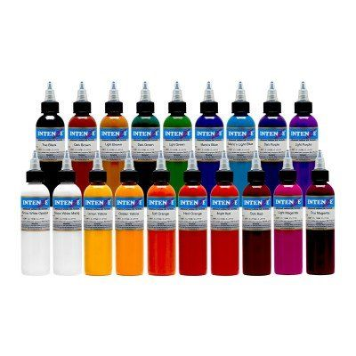 Intenze Color Tattoo Ink Sets 1 oz 19 Color Tattoo Ink Set *** Visit ...