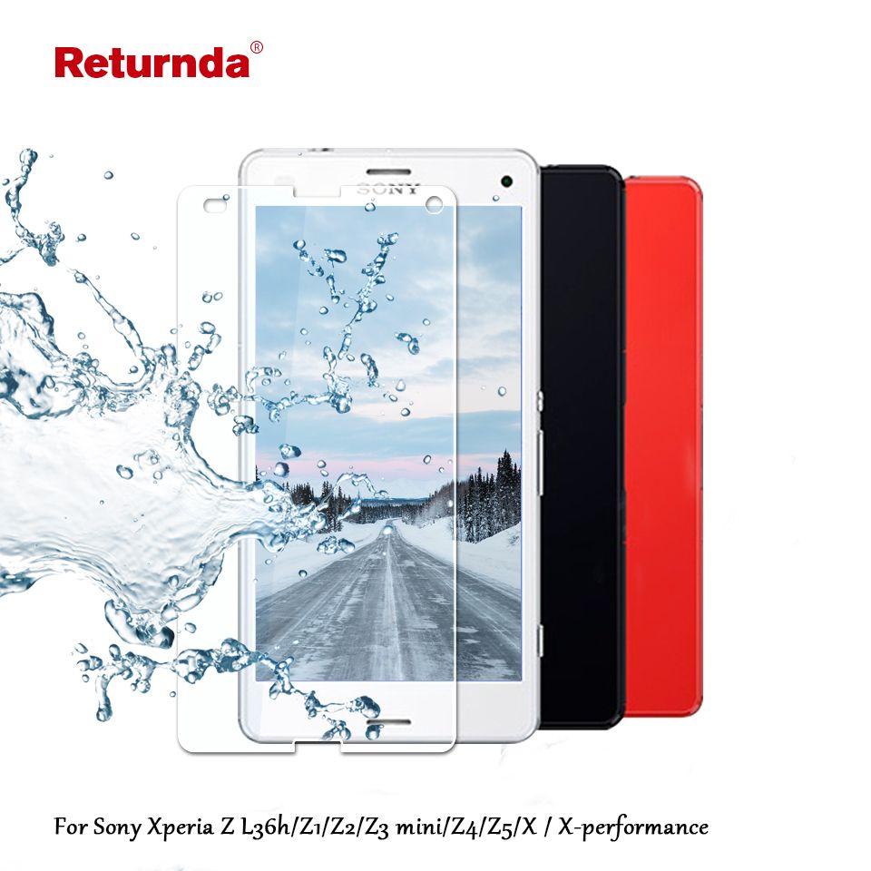 Ultra 9 h vetro temperato per sony xperia z l36h z1 z2 z3 z4 z5 compatto per xperia x/x-prestazioni dello schermo del telefono Protector