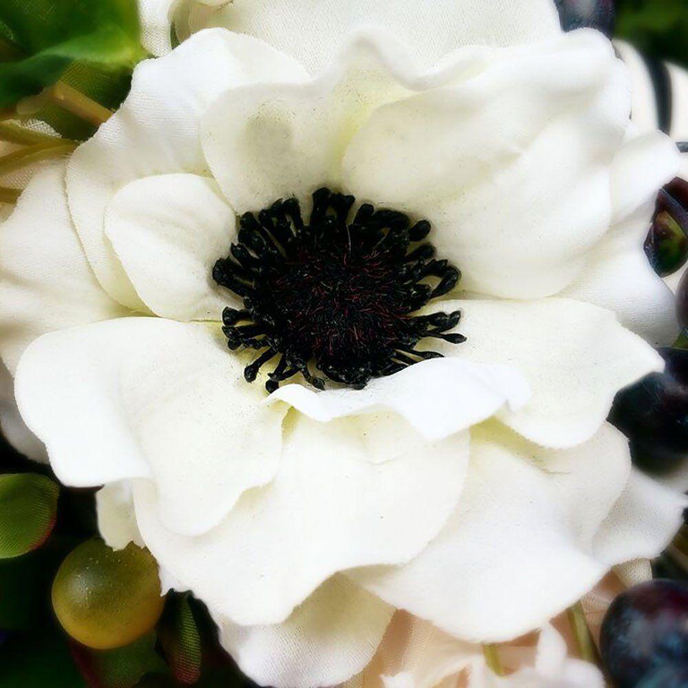 Silk Anemone Flower In Cream Sold By Dozen 145in Tall Silk