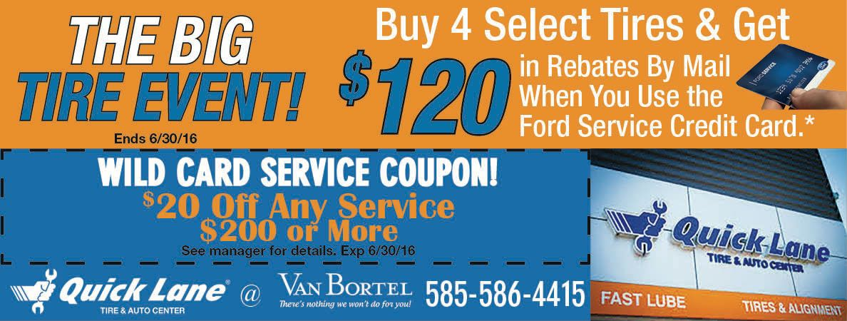 Van Bortel Quick Lane Specials And Coupons Rochester Ny Wheel
