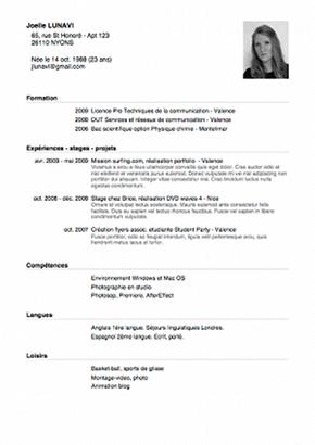 Curriculum Vitae 3eme Modelo De Curriculum Vitae Curriculum Vitae Curriculum Lettre De Remerciement Stage