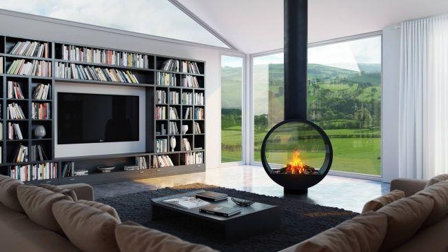 20 Magníficas chimeneas que cualquiera quisiera tener Casas - chimeneas interiores