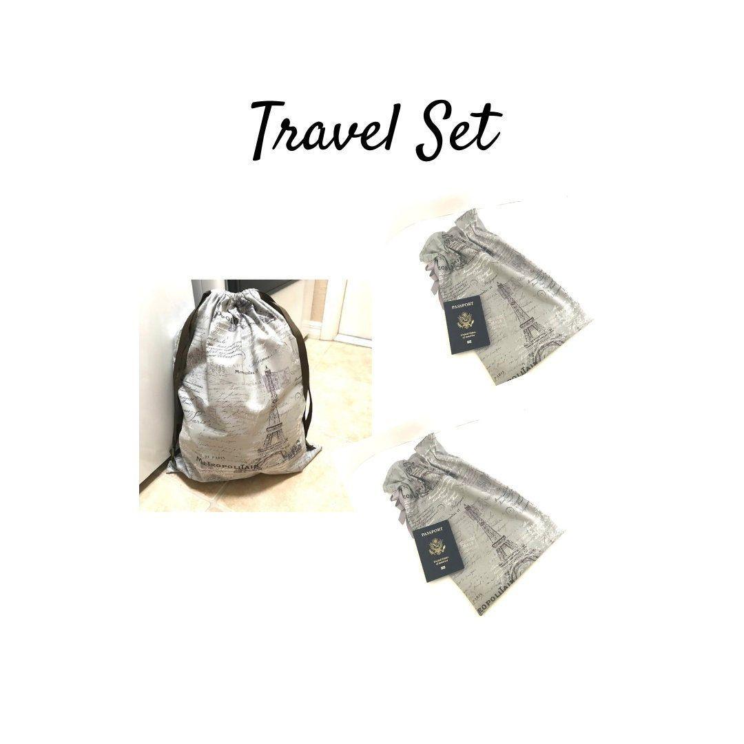 Paris Travel Bag Set For Women Travel Shoe And Laundry Bag Set