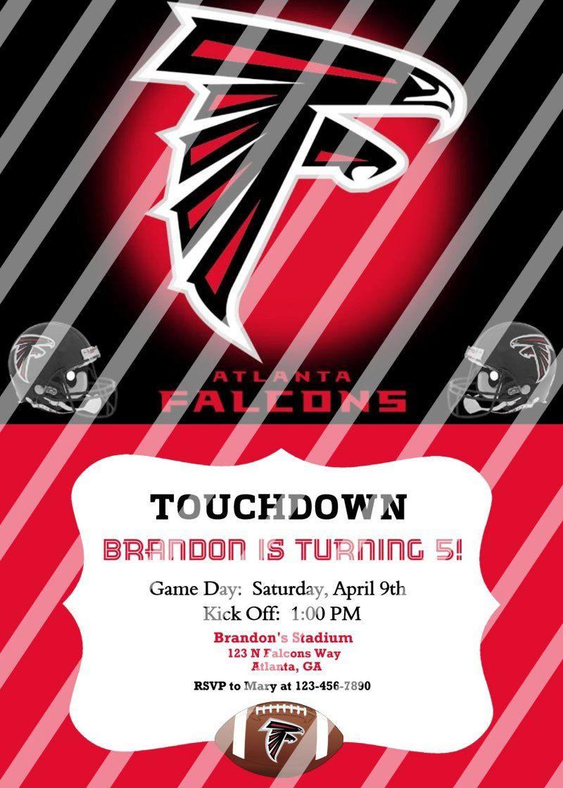Atlanta Falcons Personalized Party Invitation #1 (digital file you ...