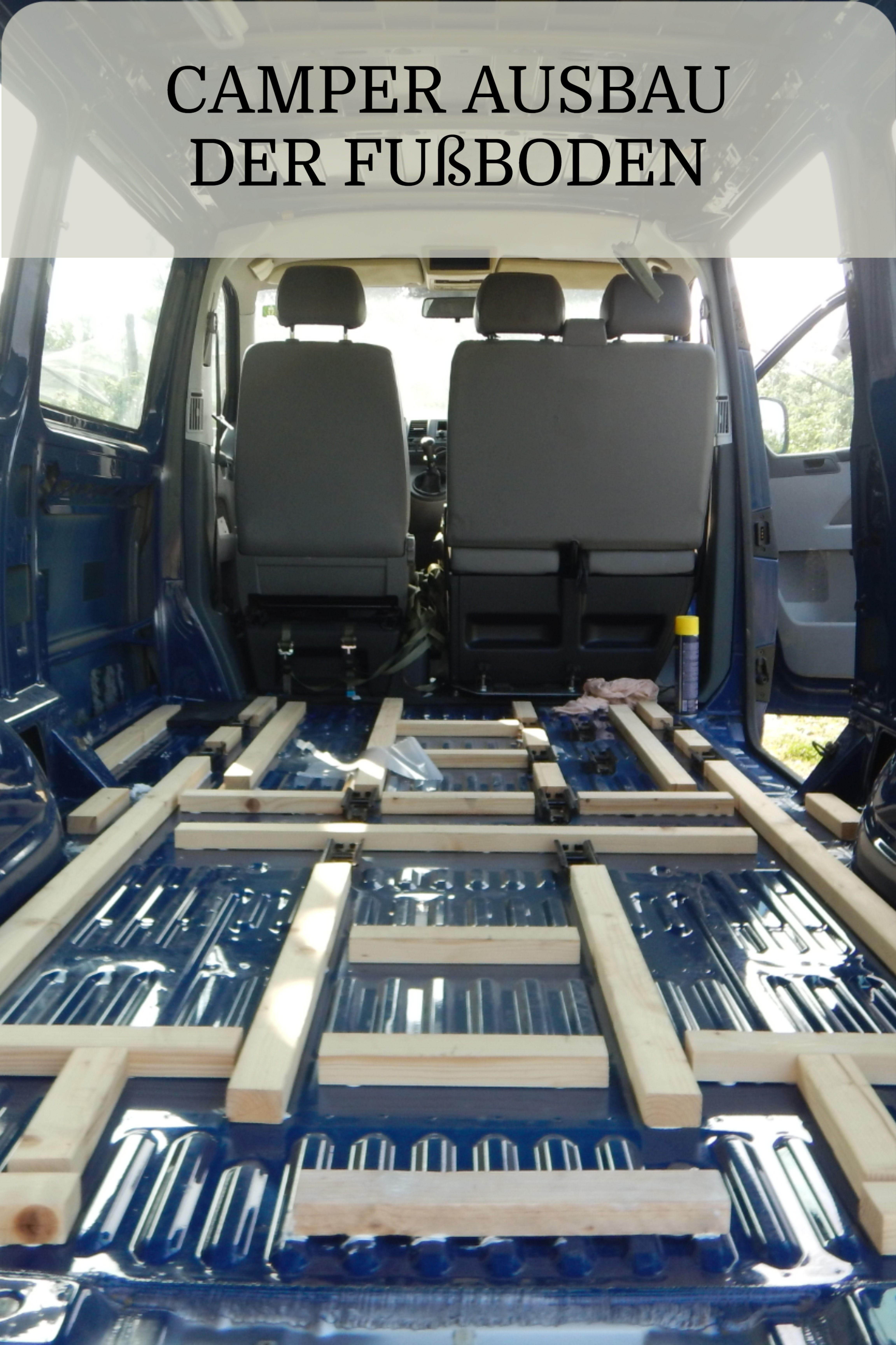 Photo of Einbau eines stabilen Fußboden für den Camper.