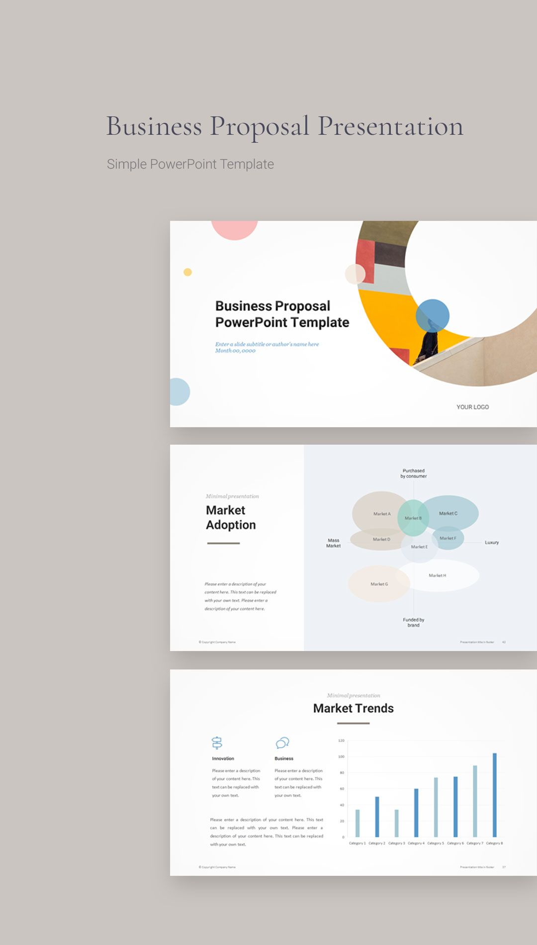 Business Proposal PowerPoint Template in 2020 Business