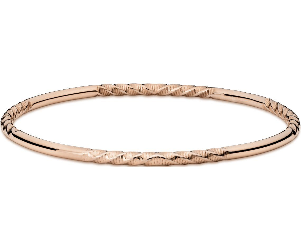 bangle link miami bracelet bangles rose solid inch mens gold bracelets