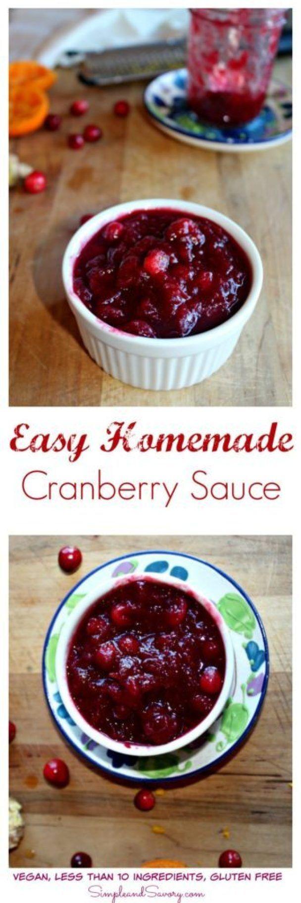 Homemade Cranberry Sauce Recipe Cranberry sauce