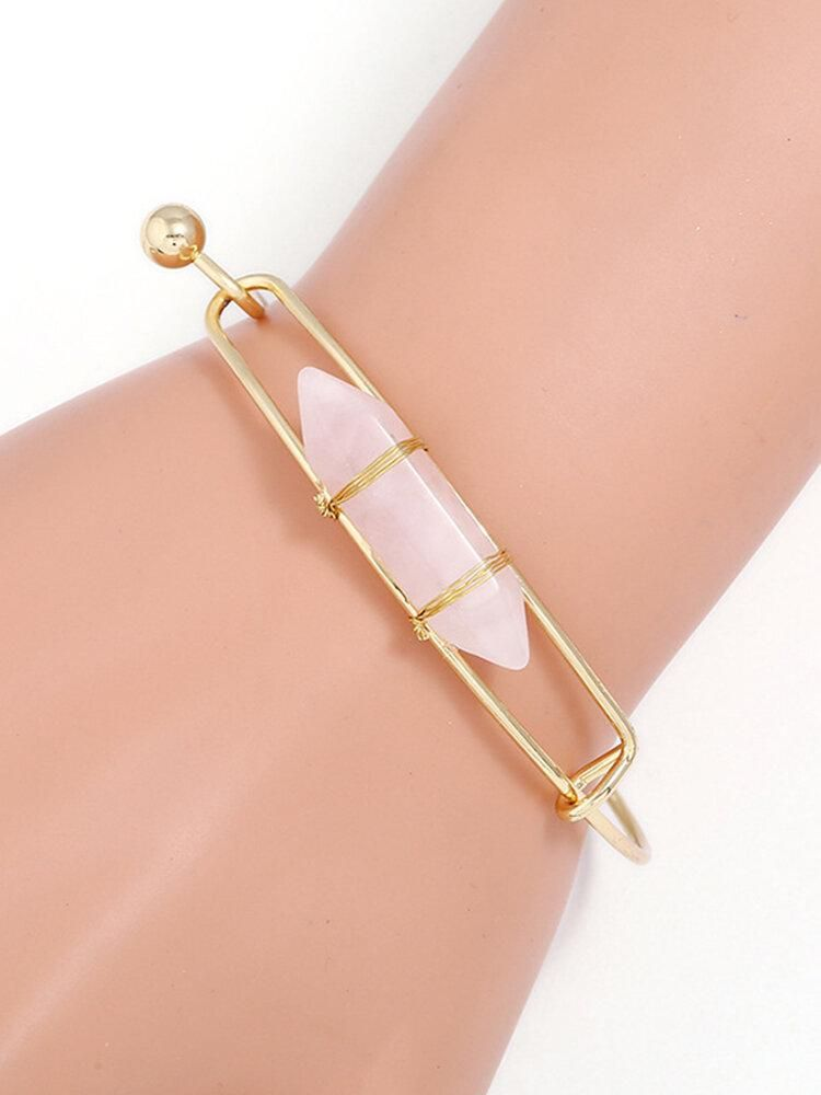 Naturestone - Das edle Naturstein Armband im Gold Look
